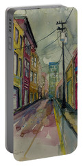 Cityscape Urbanscape Asheville Alley Portable Battery Charger