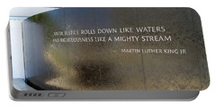 Portable Battery Charger featuring the photograph Civil Rights Memorial by Steven Frame