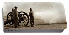 Portable Battery Charger featuring the photograph Civil War Era Cannon Firing  by Doug Camara