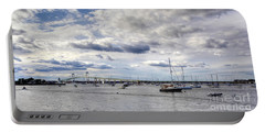 Portable Battery Charger featuring the photograph Claiborne Pell Newport Bridge by Adrian LaRoque
