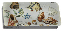 Clams, Butterflies, Flowers And Insects Portable Battery Charger