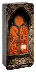 Portable Battery Charger featuring the photograph Clare Abbey Sunrise by James Truett