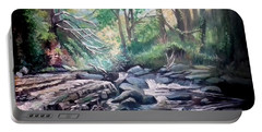 Clare Glens ,co Tipparay Ireland Portable Battery Charger by Paul Weerasekera