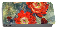 Claret Cup Cactus Portable Battery Charger by Marilyn Smith