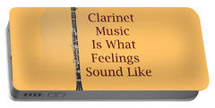 Clarinet Is What Feelings Sound Like 5574.02 Portable Battery Charger