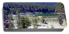 Clark Fork River Missoula Montana Portable Battery Charger by Kay Novy