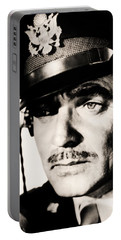 Portable Battery Charger featuring the photograph Clark Gable Hollywood Sex Symbol In The Movie Command Decision by R Muirhead Art