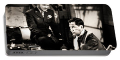 Portable Battery Charger featuring the photograph Clark Gable Hollywood Heart Throb In The Movie Command Decision by R Muirhead Art