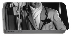 Portable Battery Charger featuring the photograph Clark Gable Hollywood Movie Idol  by R Muirhead Art