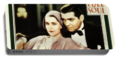 Portable Battery Charger featuring the photograph Clark Gable Movie Idol In A Free Soul by R Muirhead Art