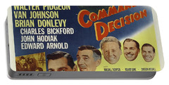 Portable Battery Charger featuring the photograph Clark Gable Movie Poster Command Decision by R Muirhead Art