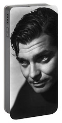 Portable Battery Charger featuring the photograph Clark Gable by R Muirhead Art