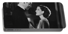 Portable Battery Charger featuring the photograph Clark Gable Staring In A Free Soul by R Muirhead Art