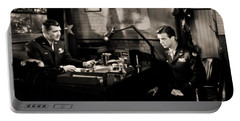 Portable Battery Charger featuring the photograph Clark Gable Staring In Command Decision by R Muirhead Art