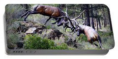Portable Battery Charger featuring the photograph Clash Of The Titans by AJ Schibig