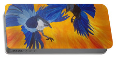 Clash Of Wings Portable Battery Charger by Maria Urso
