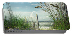 To The Beach Sea Oats Portable Battery Charger