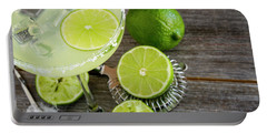 Portable Battery Charger featuring the photograph Classic Lime Margarita by Teri Virbickis