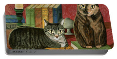 Classic Literary Cats Portable Battery Charger