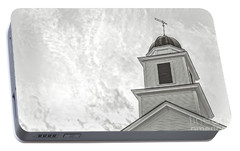 Portable Battery Charger featuring the photograph Classic New England Church Etna New Hampshire by Edward Fielding