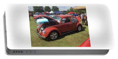 Portable Battery Charger featuring the photograph Classic Red Bug by Aaron Martens