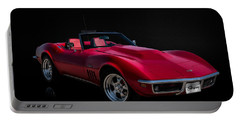 Classic Red Corvette Portable Battery Charger