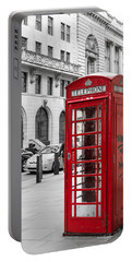 Red Telephone Box In London England Portable Battery Charger