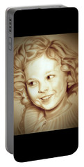 Classic Shirley Temple Portable Battery Charger by Fred Larucci