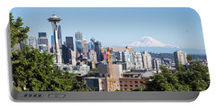 Classic View Of Seattle, Usa Portable Battery Charger