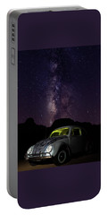 Classic Vw Bug Under The Milky Way Portable Battery Charger