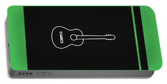 Classical Guitar In Green Portable Battery Charger