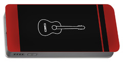Classical Guitar In Orange Red Portable Battery Charger