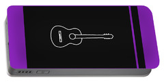 Classical Guitar In Purple Portable Battery Charger