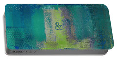 Portable Battery Charger featuring the digital art Classico - S03c04 by Variance Collections