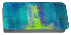 Portable Battery Charger featuring the digital art Classico - S03c26 by Variance Collections