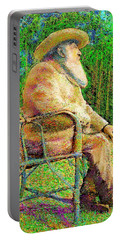 Claude Monet In His Garden Portable Battery Charger