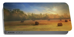 Portable Battery Charger featuring the photograph Clayton Morning Mist by Lori Deiter