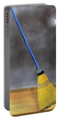 Portable Battery Charger featuring the painting Cleaning Out The Universe by Thomas Blood