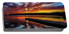 Clear Lake At Sunset. Riding Mountain National Park, Manitoba, Canada. Portable Battery Charger