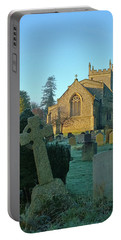 Clear Light In The Graveyard Portable Battery Charger by Anne Kotan