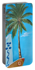 Clear Sky Let's Surf Portable Battery Charger by Lloyd Dobson