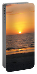 Clear Sunset Portable Battery Charger by Clara Sue Beym