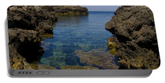 Clear Water Of Mallorca Portable Battery Charger by Anastasy Yarmolovich