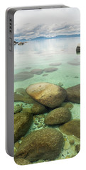 Clear Water, Stormy Sky Portable Battery Charger