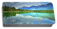 Portable Battery Charger featuring the photograph Clear Waters At Lake Annette by Tara Turner