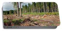 Clearcut, Douglas Fir Forest Portable Battery Charger