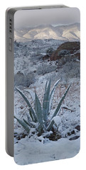 Clearing Desert Snowstorm Portable Battery Charger