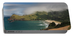 Clearing Fog Along The Oregon Coast Portable Battery Charger