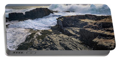 Portable Battery Charger featuring the photograph Clearing Storm At Bald Head Cliff by Rick Berk