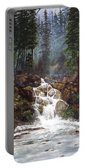 Clearwater Falls Portable Battery Charger by Diane Schuster